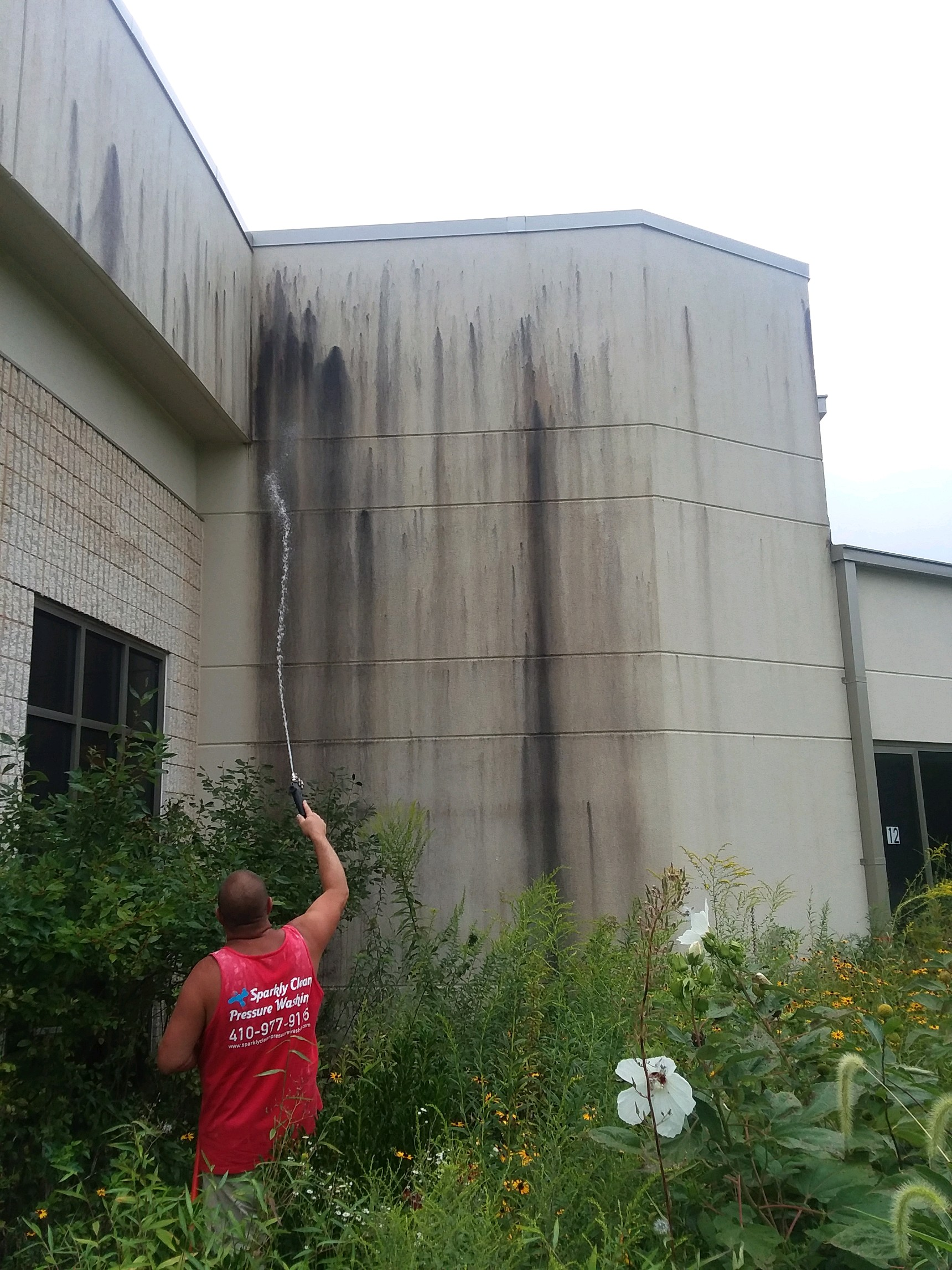 Commercial-Pressure-Washing-Office-Building-Before-1